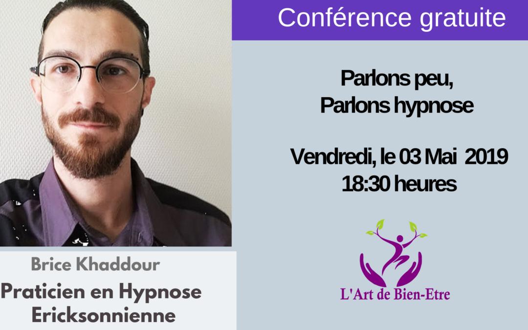 Conférence : Parlons peu, parlons hypnose